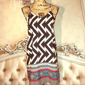 Chevron Print Cami / Slip Dress/ cover up